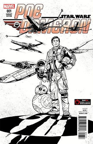 Poe Dameron #1 (Joëlle Jones GameStop PowerUp Sketch Variant Cover) (04.05.2016)