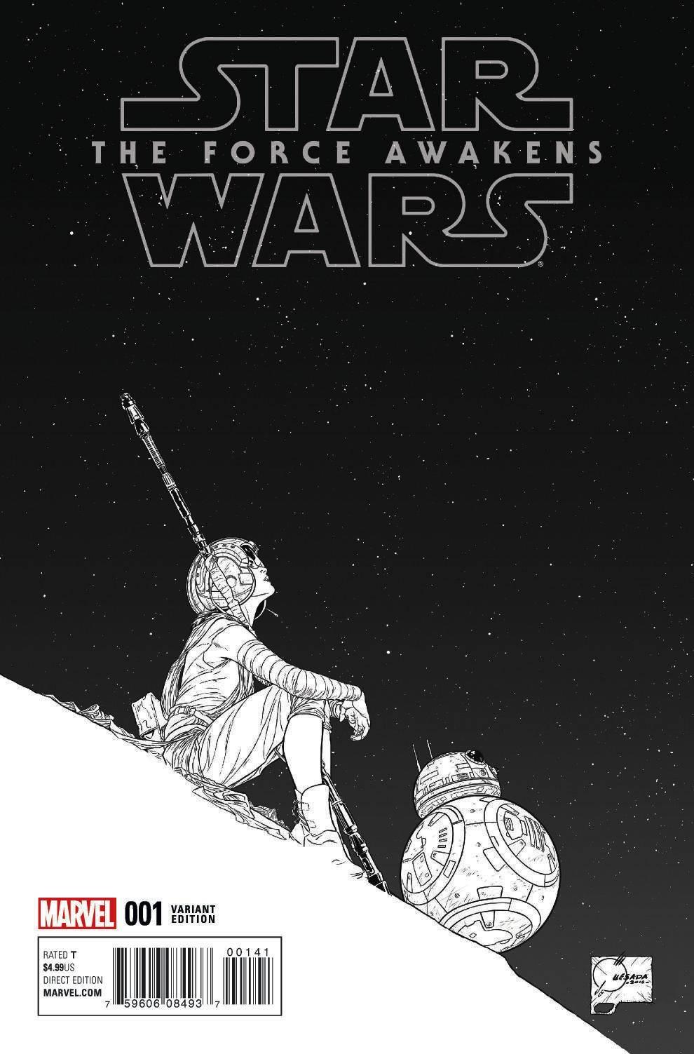 Star Wars: The Force Awakens #1 (Joe Quesada Sketch Variant Cover) (22.06.2016)