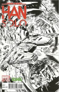 Han Solo #1 (Pepe Larraz ZING Pop Culture Sketch Variant Cover) (14.09.2016)