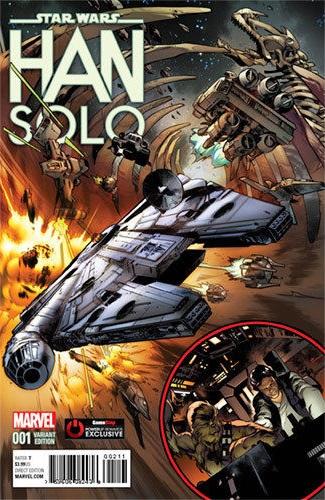 Han Solo #1 (Pepe Larraz GameStop PowerUp Variant Cover) (15.06.2016)