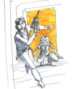 Ahsoka in Aktion auf Coruscant-Ebene 1313