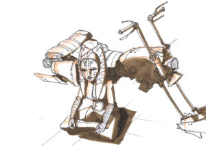Ahsoka mit einem Speeder