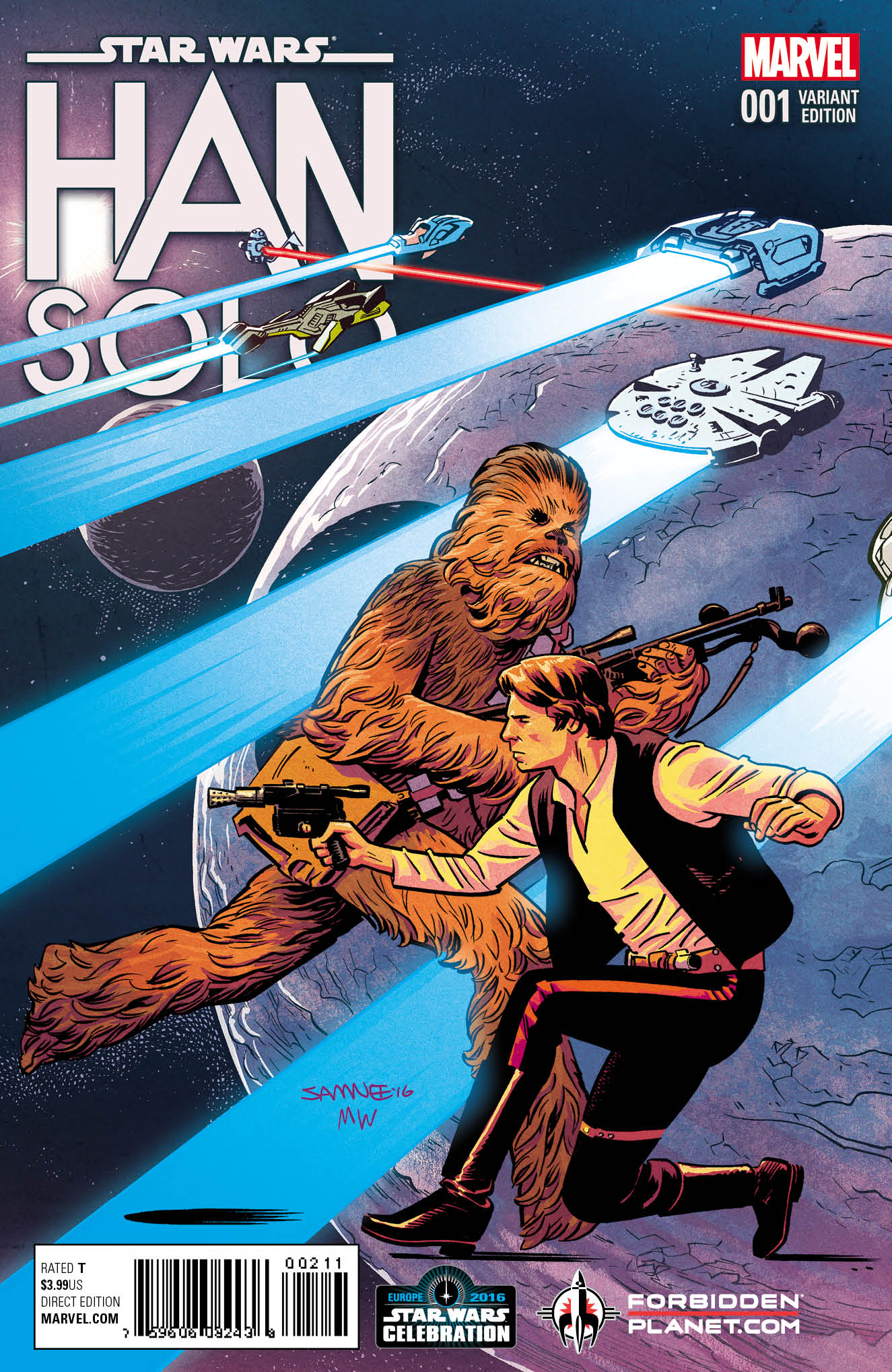 Han Solo (Chris Samnee Forbidden Planet/Celebration London Variant Cover) (15.07.2016)