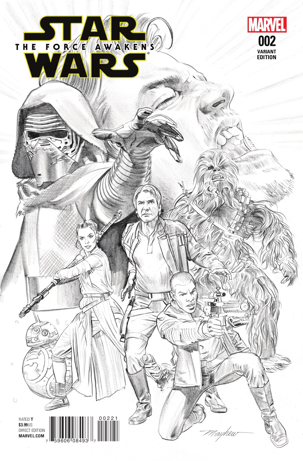 Star Wars: The Force Awakens #2 (Mike Mayhew Sketch Variant Cover) (27.07.2016)