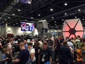 Ausblick auf die Bühne der Star Wars-Show