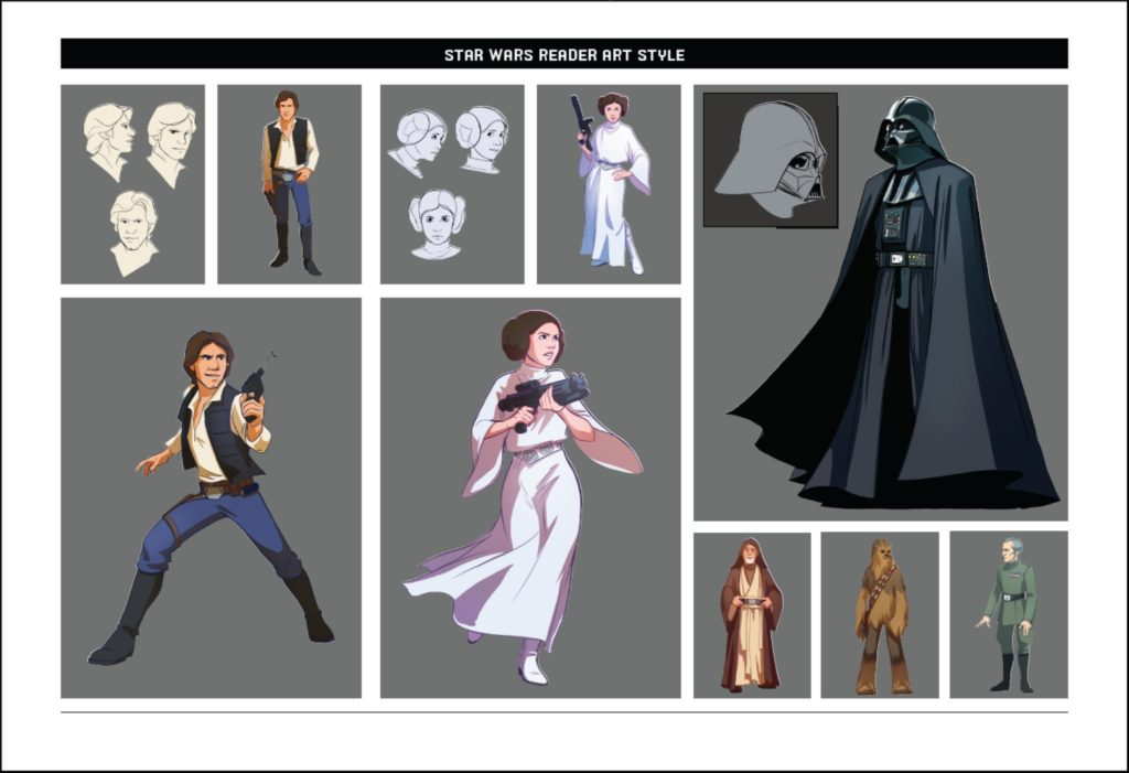 Disney-Lucasfilm Press: World of Reading Illustrationen