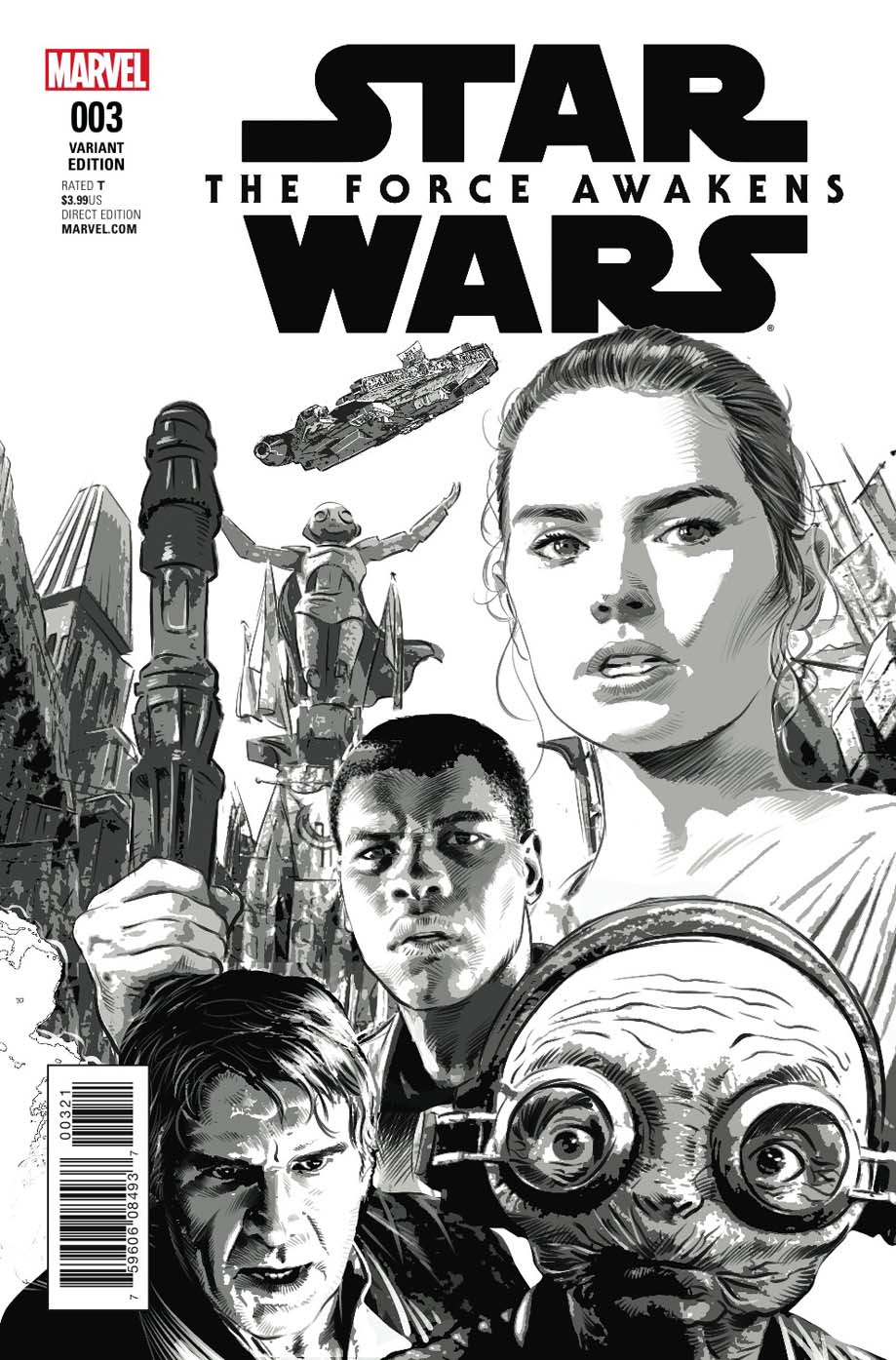 Star Wars: The Force Awakens #3 (Mike Deodato Sketch Variant Cover) (24.08.2016)