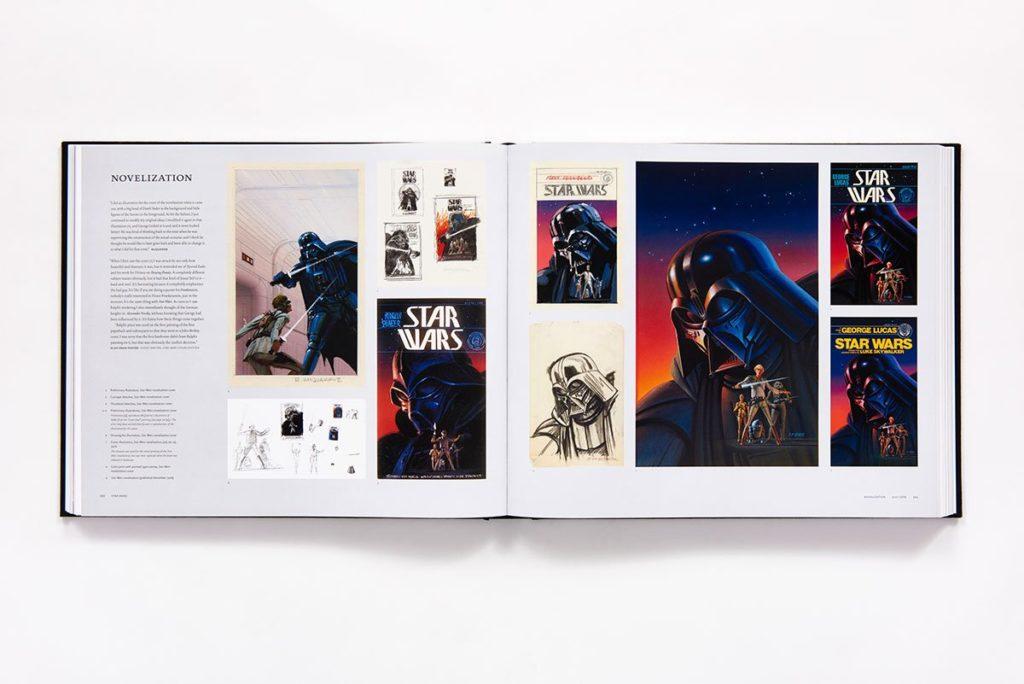 Art of Ralph McQuarrie - Vorschauseite mit Buchcovern