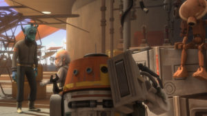 "Chopper klaut sich in ""The Forgotten Droid"" ein neues Bein."