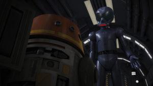 "Chopper und AP-5 freunden sich in ""The Forgotten Droid"" an."