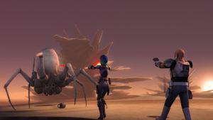"In ""The Mystery of Chopper Base"" kämpfen die Rebellen gegen Spinnenwesen"
