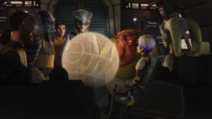 Hondo und Azmorigan bieten den Rebellen in <em>Die Piraten-Rebellen</em> einen Deal an.