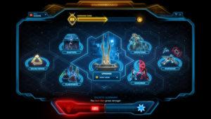 Bedienungsoberfläche des Galaktischen Kommandos