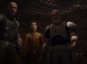 "Saw Gerrera, Ezra und Rex in ""Ghosts of Geonosis"""