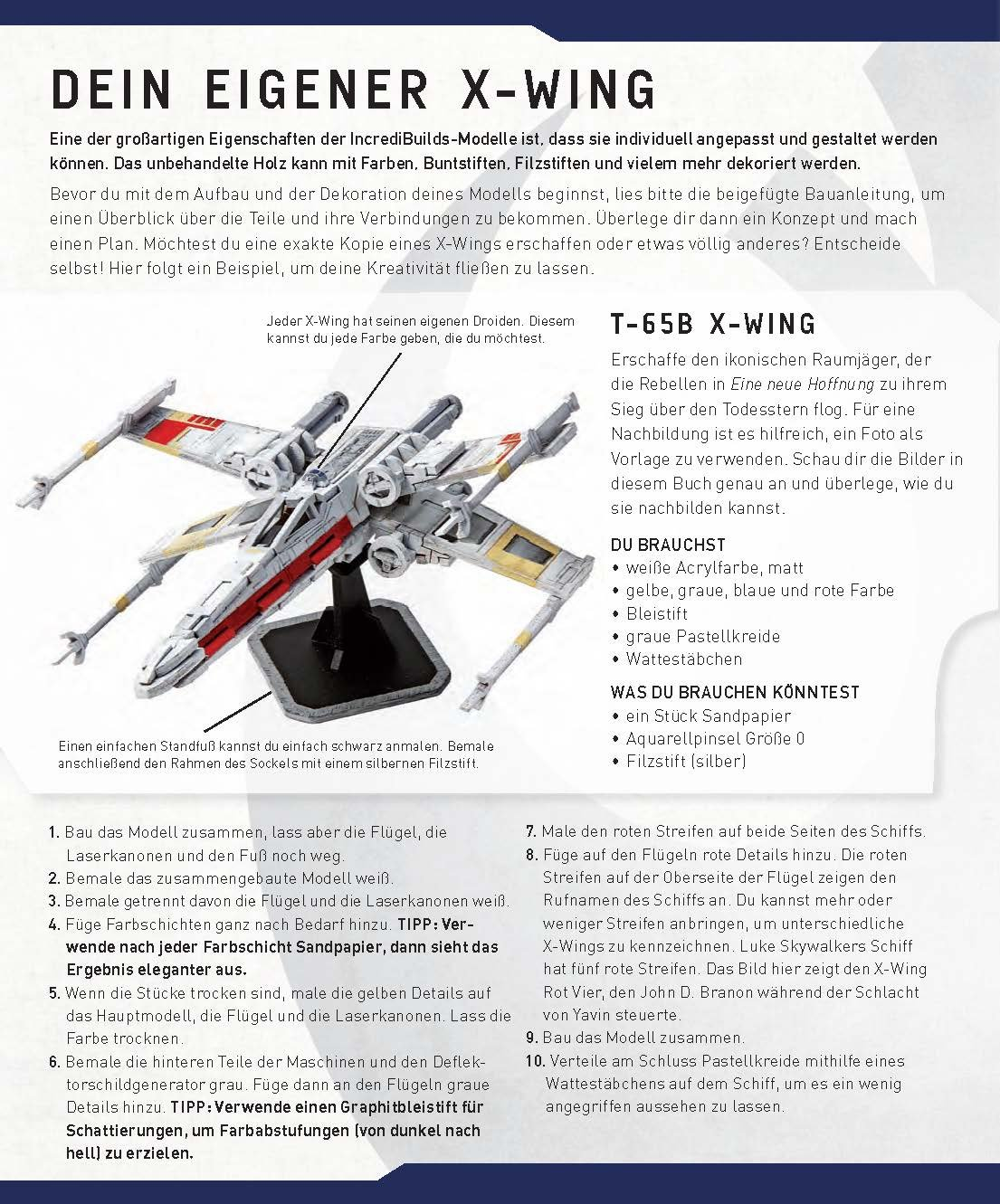 Incredibuilds: X-Wing: Der ultimative Sternjäger Vorschauseite 10