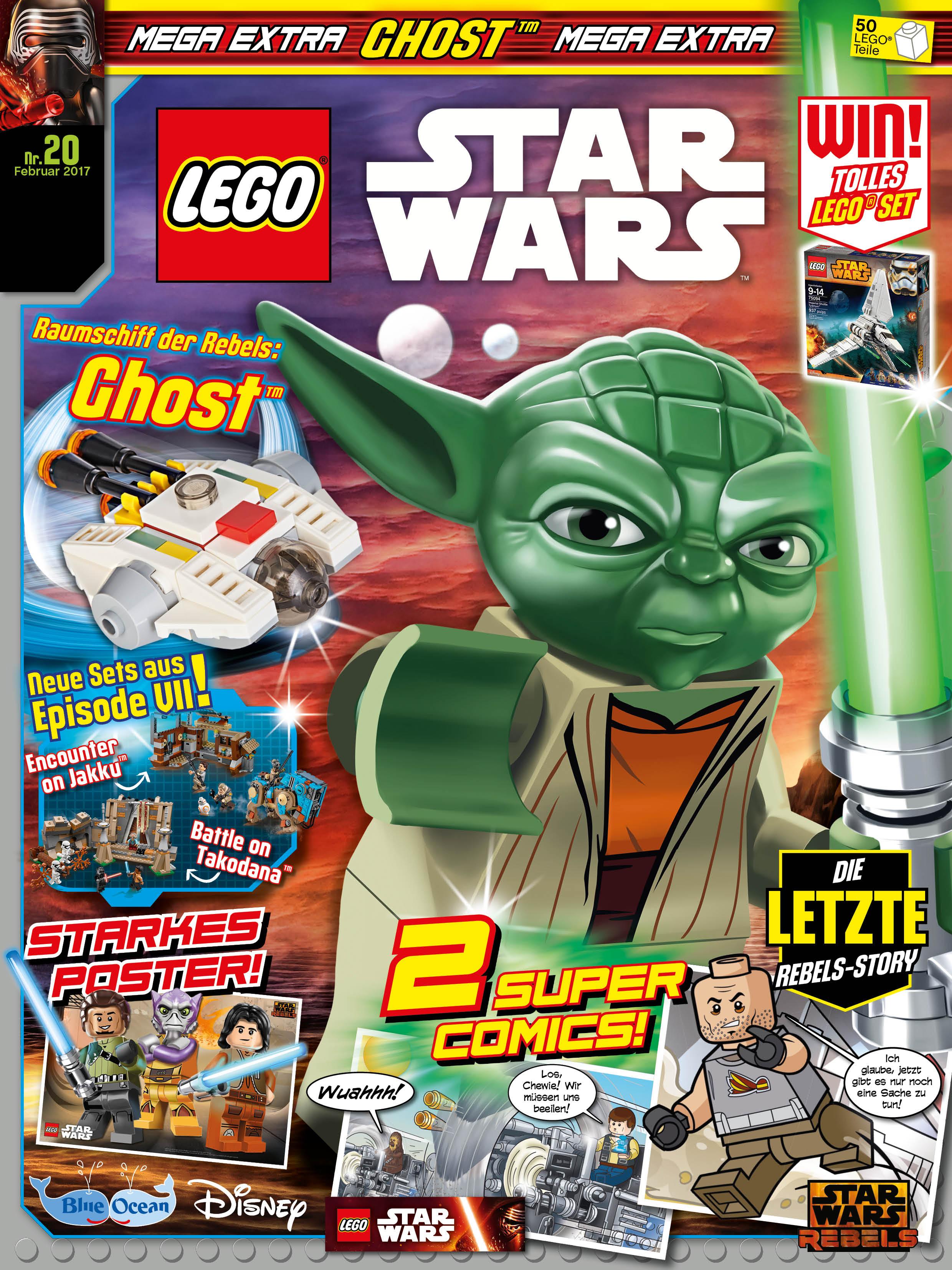 rezension lego star wars magazin 20 von blue ocean entertainment mit leseprobe jedi bibliothek. Black Bedroom Furniture Sets. Home Design Ideas