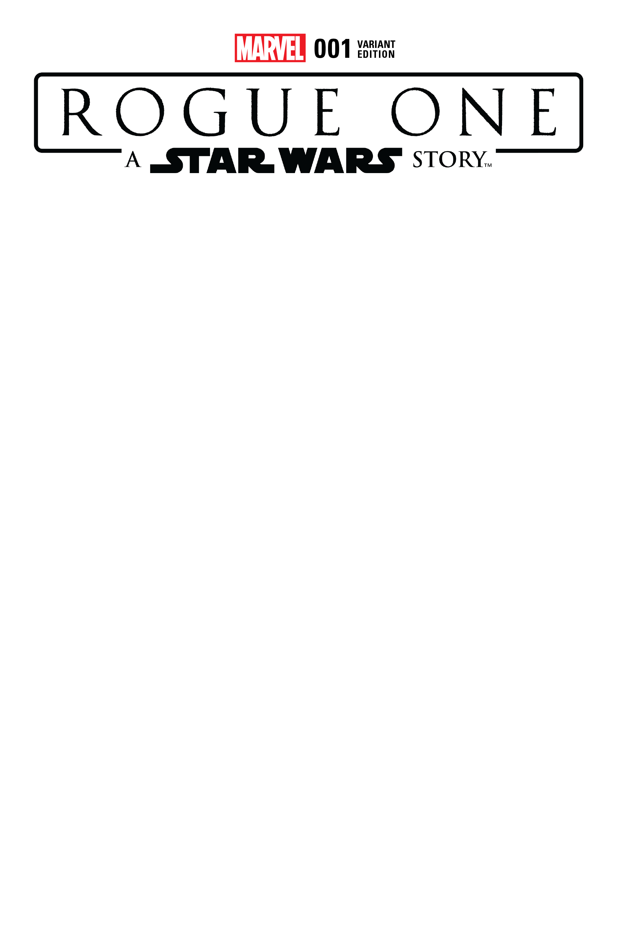 Rogue One #1 (Blank Variant)
