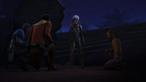 Die Rebellen schwören Sabine in <em>Trials of the Darksaber</em> die Treue.