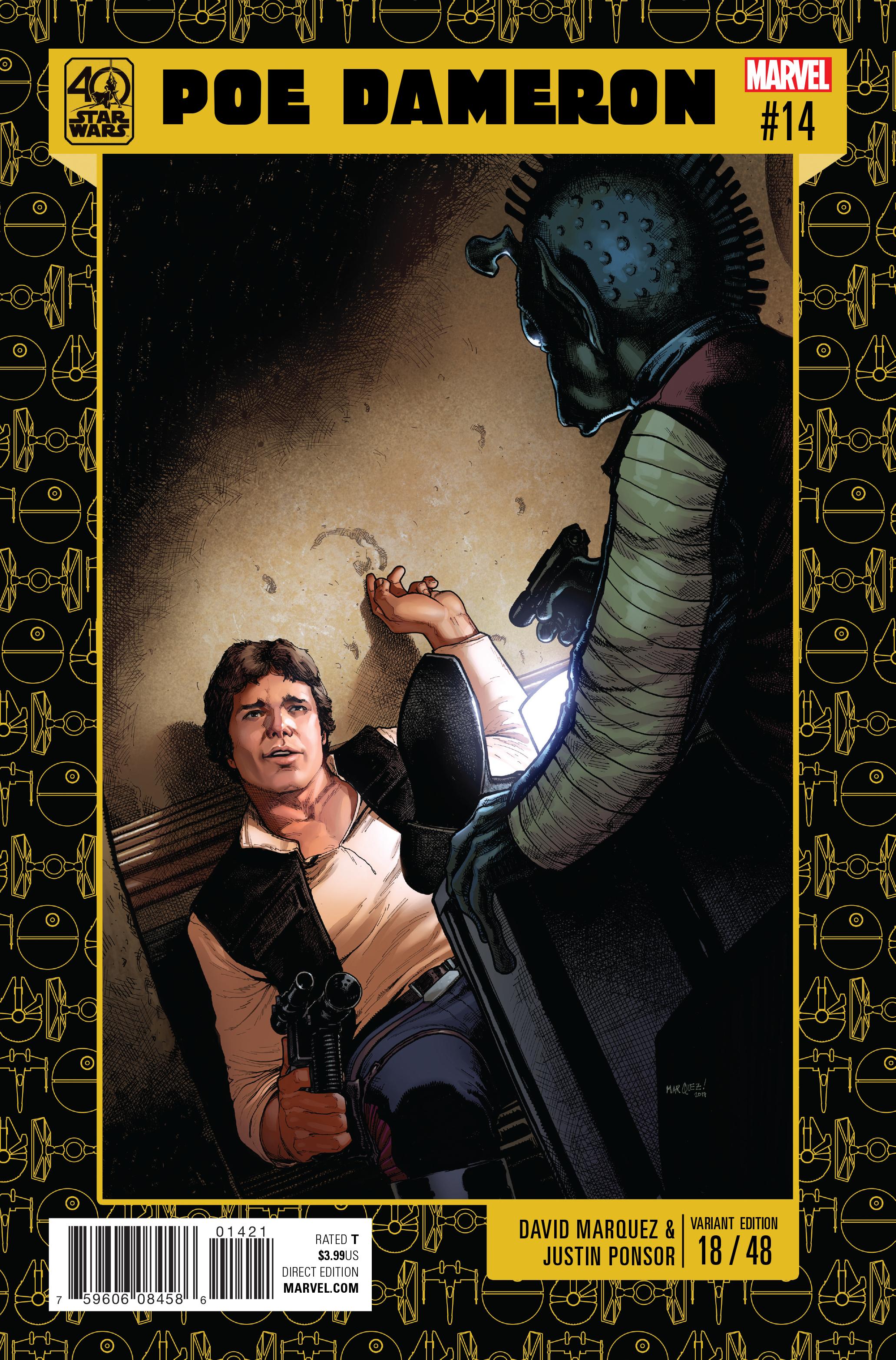 Poe Dameron #14 (David Marquez Star Wars 40th Anniversary Variant Cover) (03.05.2017)