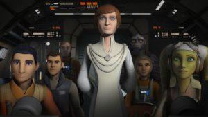 """Mon Mothma will in """"Die geheime Fracht"""" die Rebellenzellen vereinen."""
