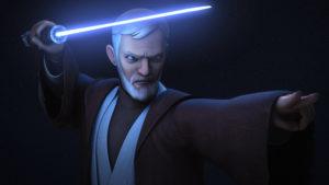 Obi-Wan bereit zum Kampf gegen Maul in <em>Twin Suns</em>