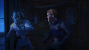 Kallus und Thrawn liefern sich in <em>Zero Hour</em> einen Faustkampf Mann gegen Mann.