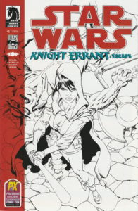Knight Errant: Escape #1 (Mike Hawthorne SDCC PX Exclusive Sketch Variant Cover) (12.07.2012)