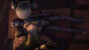 """Zeb findet in """"Mit den eigenen Waffen"""" einen harmlos aussehenden Droiden."""