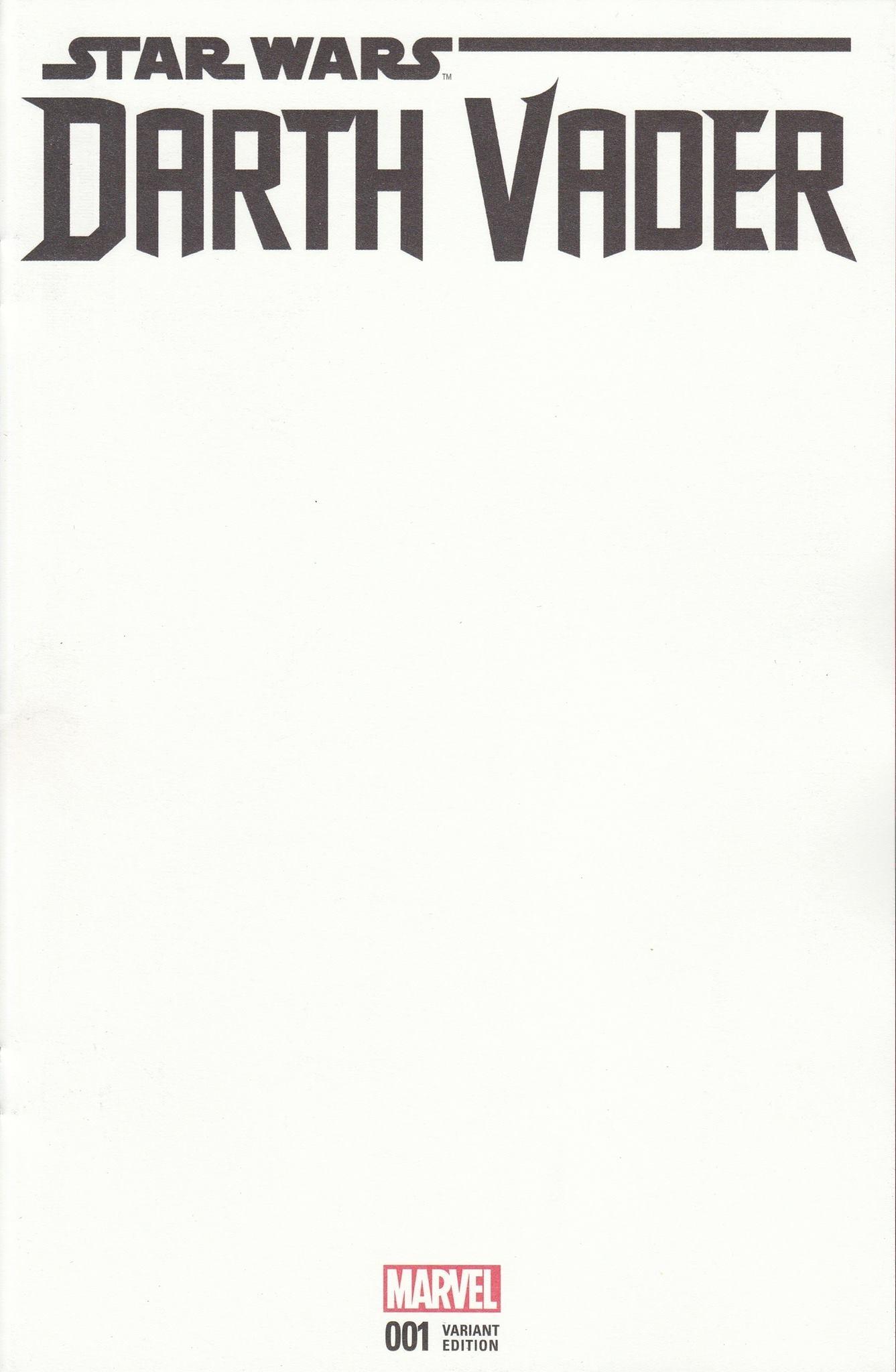 Darth Vader #1 (Blank Variant Cover) (07.06.2017)