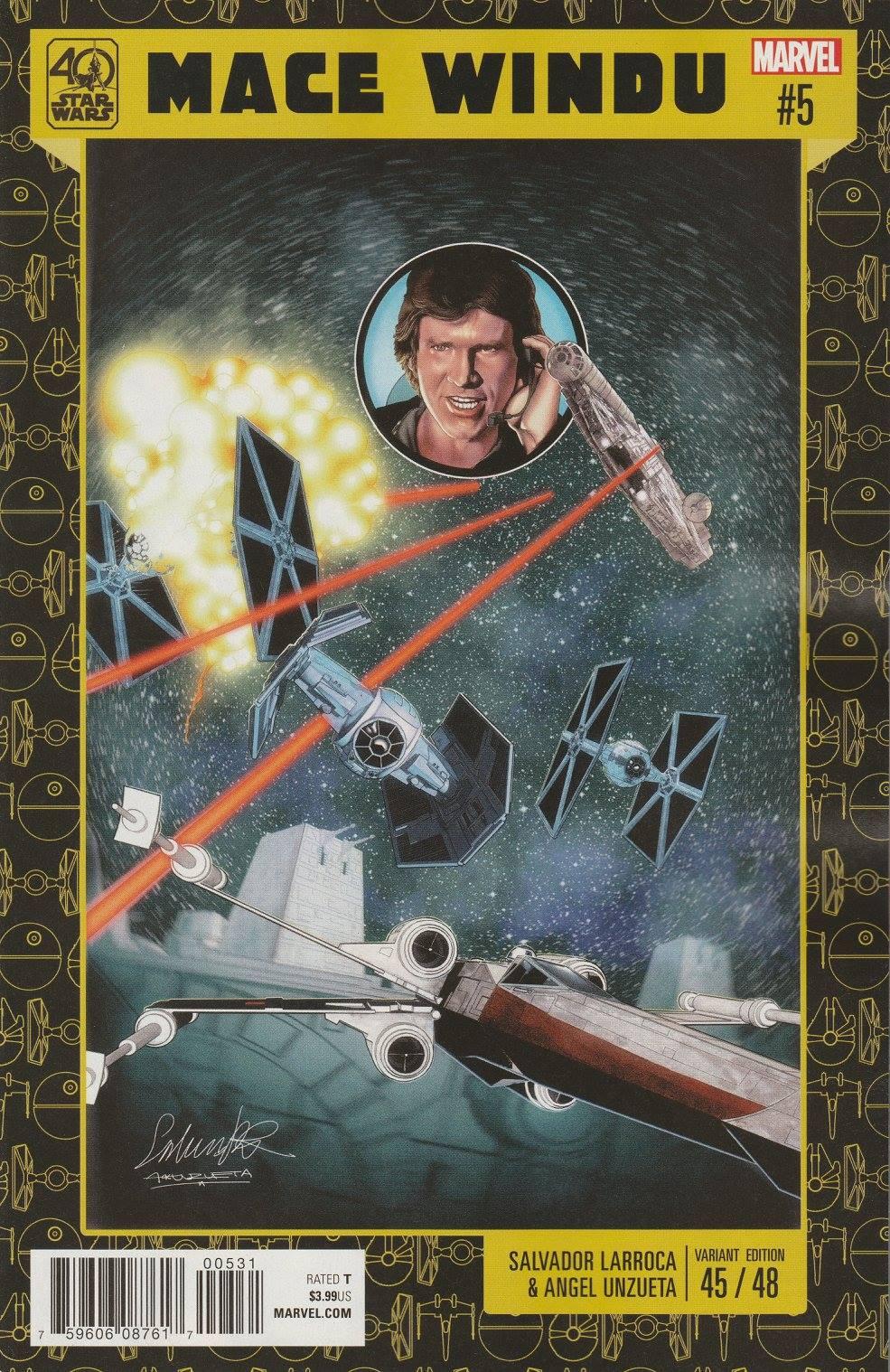 Jedi of the Republic – Mace Windu #5 (Salvador Larroca Star Wars 40th Anniversary Variant Cover) (27.12.2017)
