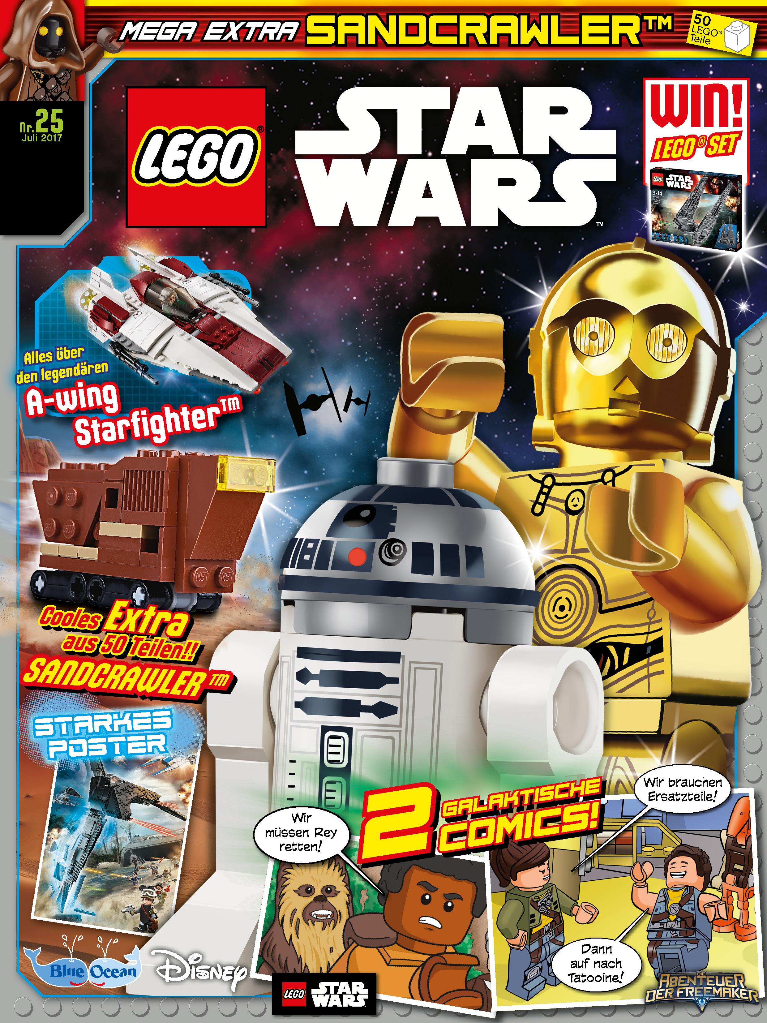 Lego Star Wars Magazine NR 25-Sandcrawler-NEW #11H5