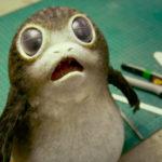 Porg in einer Szene aus dem Behind-the-Scenes-Clip zu Die letzten Jedi