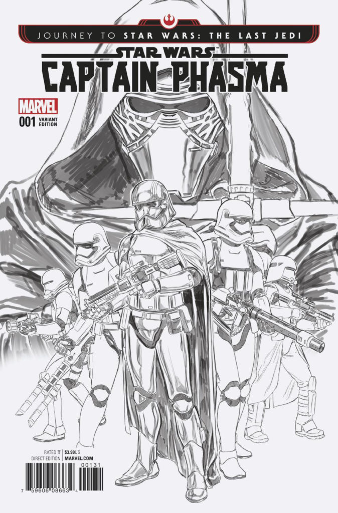 Captain Phasma #1 (Mark Brooks Black & White Variant Cover) (06.09.2017)