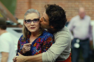 Carrie Fisher und Oscar Isaac