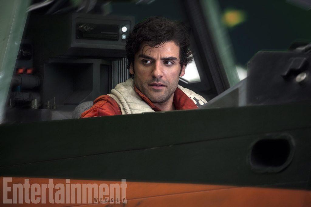 Poe Dameron in seinem X-Flügler (EW/The Last Jedi)