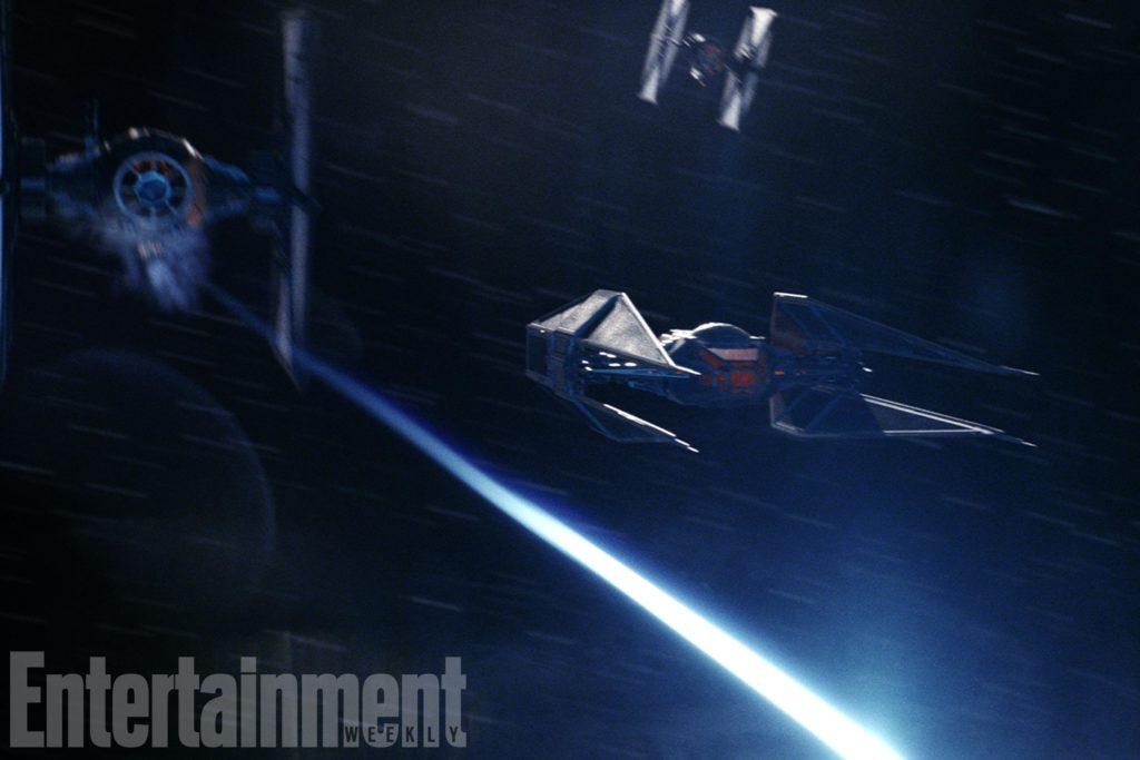 Kylo Rens neues Schiff, der TIE Silencer (EW/The Last Jedi)