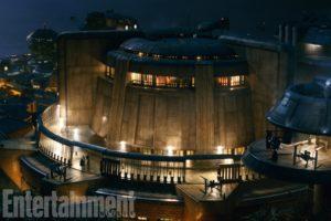 Das Casino auf Canto Bight, Ziel von Rose und Finn, mit neuen Raumschiffen (EW/The Last Jedi)