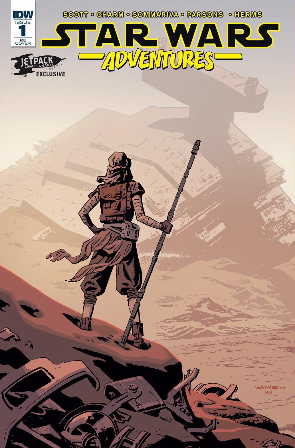 Star Wars Adventures #1 (Chris Samnee Jetpack/Forbidden Planet Variant Cover) (06.09.2017)