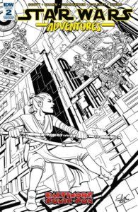Star Wars Adventures #2 (Elsa Charretier Baltimore Comic-Con Black & White Variant Cover) (20.09.2017)