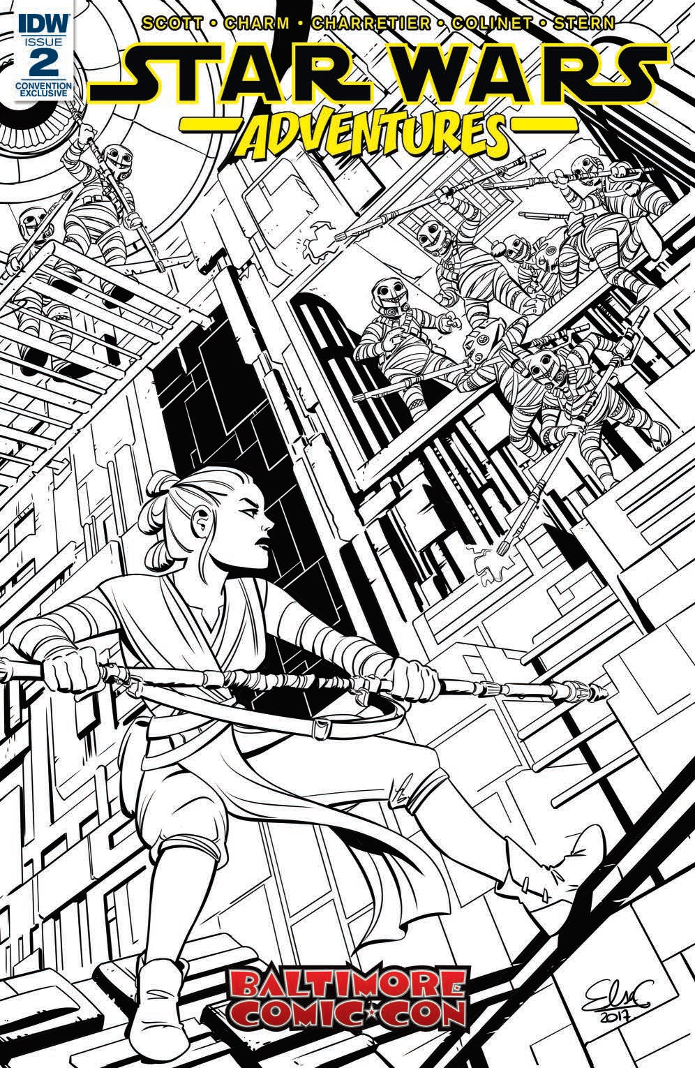 Star Wars Adventures #2 (Elsa Charretier Baltimore Comic-Con Black & White Variant Cover) (20.09.2017)