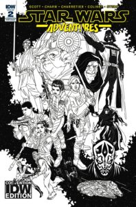 Star Wars Adventures #2 (Tim Levins IDW Convention Black & White Variant Cover) (05.09.2017)