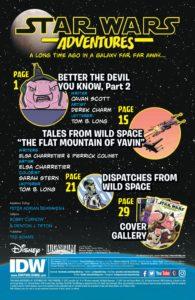 Star Wars Adventures #2 Inhaltsverzeichnis