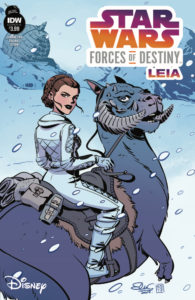 Star Wars Adventures: Forces of Destiny - Princess Leia (Cover A by Elsa Charretier) (03.01.2018)