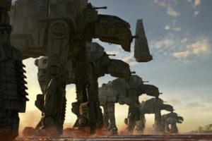 Star Wars: Die letzten Jedi: AT-M6-Läufer mit Kylos Shuttle