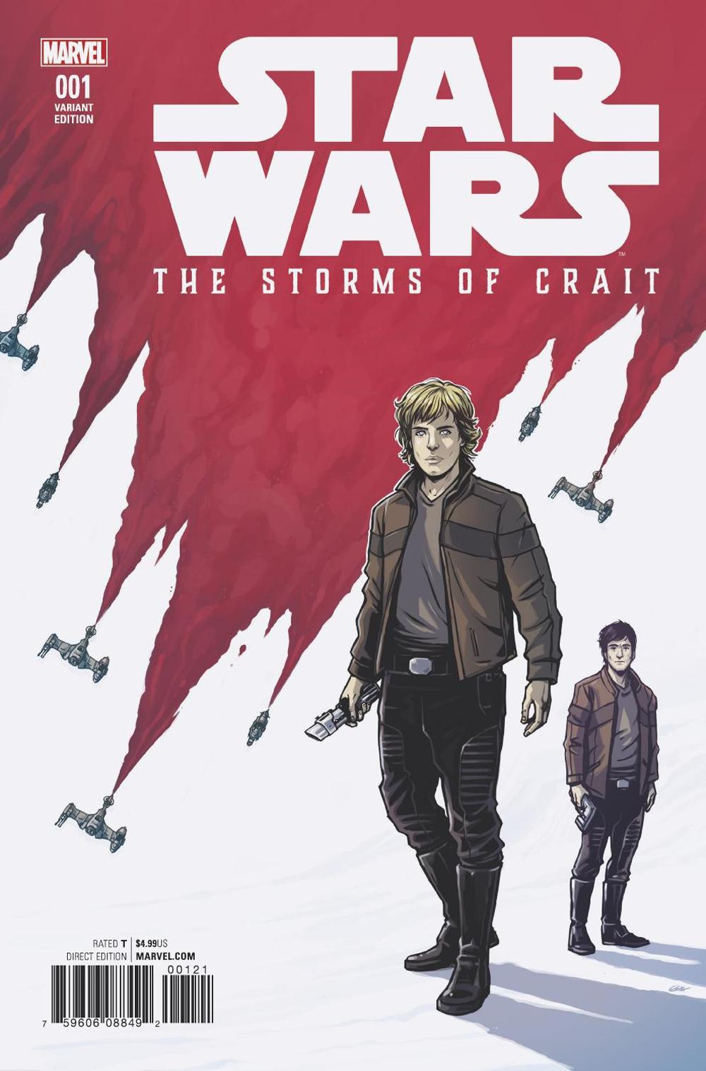 Star Wars: The Last Jedi: Storms of Crait #1 (Caspar Wijngaard Variant Cover) (27.12.2017)