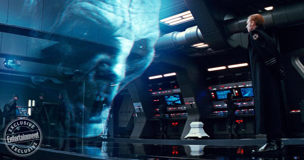 <em>Star Wars: Die letzten Jedi</em>: Andy Serkis als Snoke und Domhnall Gleeson als General Hux