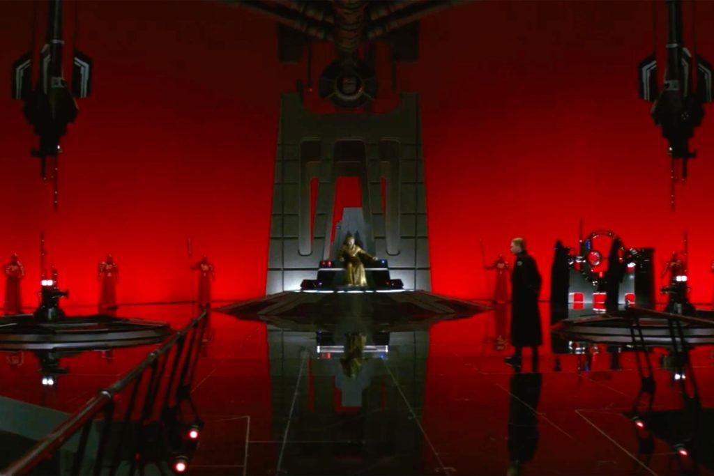 Snokes Thronsaal in <em>Die letzten Jedi</em>