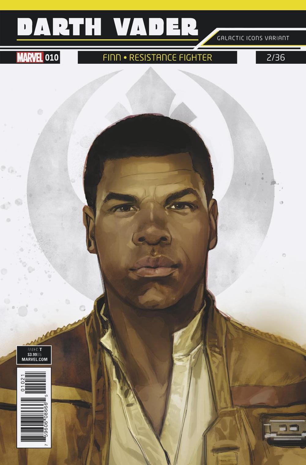 "Darth Vader #10 (Rod Reis Galactic Icon ""Finn"" Variant Cover) (10.01.2018)"