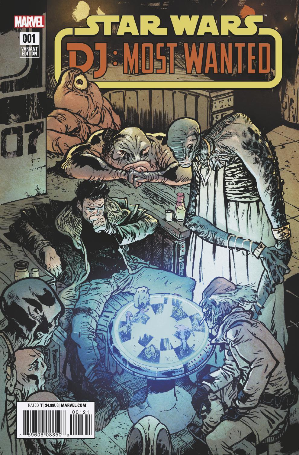 Star Wars: The Last Jedi: DJ: Most Wanted #1 (Daniel Warren Johnson Variant Cover) (31.01.2018)