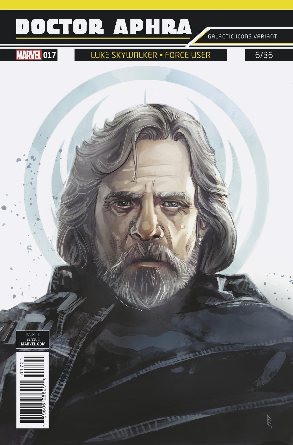 "Doctor Aphra #17 (Rod Reis Galactic Icon ""Luke Skywalker"" Variant Cover) (21.02.2018)"